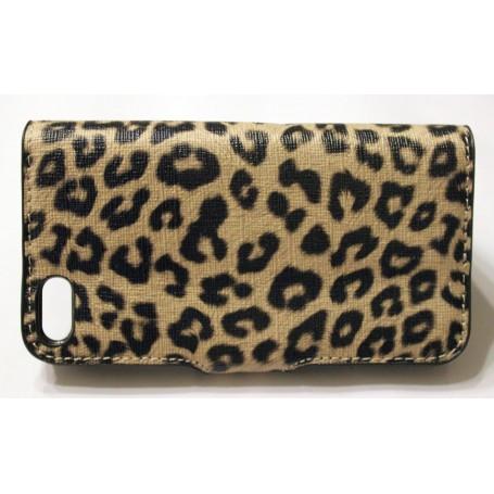 iPhone 5 beige leopardi läppäkuori.