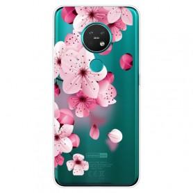 Nokia 6.2 / 7.2 läpinäkyvä kukat suojakuori