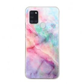 Samsung Galaxy A21s värikäs marmori suojakuori