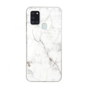 Samsung Galaxy A21s valkoinen marmori suojakuori