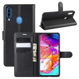 Samsung Galaxy A20s musta suojakotelo