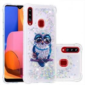 Samsung Galaxy A20s glitter hile pöllö suojakuori