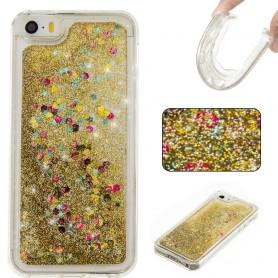 iPhone 5/5S/SE kullanvärinen glitter hile suojakuori
