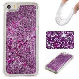 iPhone 5/5S/SE violetti glitter hile suojakuori