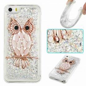 iPhone  5/5S/SE glitter hile pöllö suojakuori