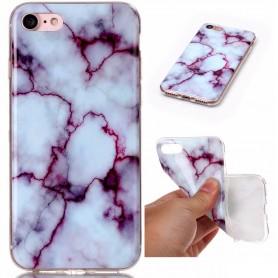 iPhone 7/8/SE 2020 violetti marmori suojakuori
