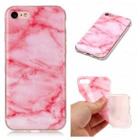 iPhone 7/8/SE 2020 pinkki marmori suojakuori