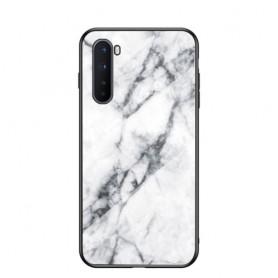 OnePlus Nord valkoinen marmori suojakuori.