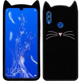 Huawei Honor 10 Lite / P Smart 2019 musta kissa suojakuori.