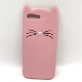 Honor 10 vaaleanpunainen kissa suojakuori.