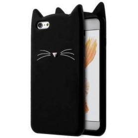 Apple iPhone 7/8/SE 2020 musta kissa suojakuori