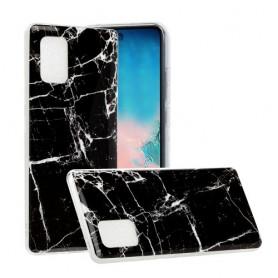 Samsung Galaxy A51 5G musta marmori suojakuori