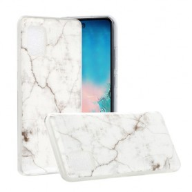 Samsung Galaxy A51 5G valkoinen marmori suojakuori