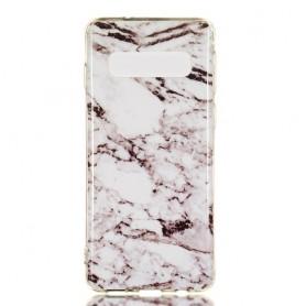 Samsung Galaxy S10 valkoinen marmori suojakuori