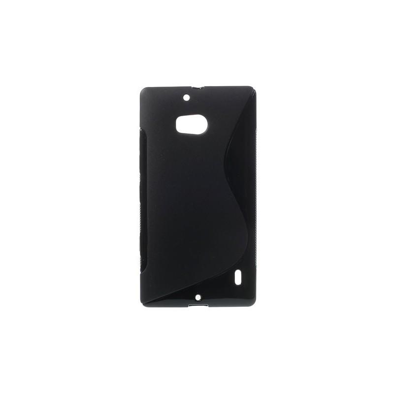 Lumia 930 musta silikonisuojus.