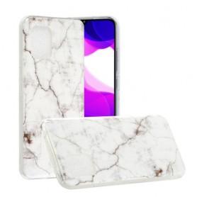 Xiaomi Mi 10 Lite 5G valkoinen marmori suojakuori