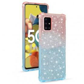 Samsung Galaxy A51 5G glitter liukuväri suojakuori