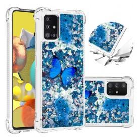 Samsung Galaxy A51 5G glitter hile perhoset suojakuori