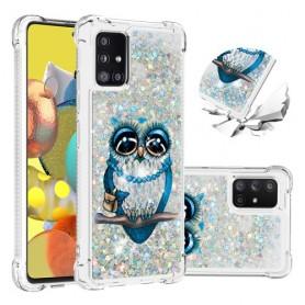 Samsung Galaxy A51 5G glitter hile pöllö suojakuori