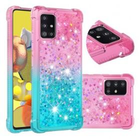 Samsung Galaxy A51 5G glitter hile liukuväri suojakuori