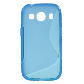 Galaxy ace 4 sininen silikonisuojus.