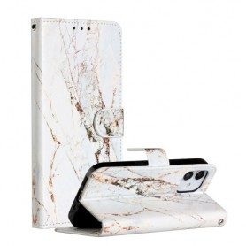 iPhone 12 mini valkoinen marmori suojakotelo