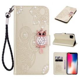 iPhone 12 mini kullanvärinen pöllö suojakotelo