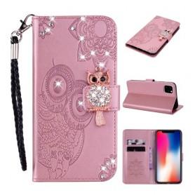iPhone 12 mini ruusukulta pöllö suojakotelo