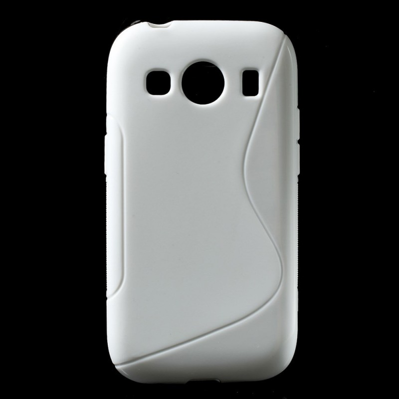 Galaxy ace 4 valkoinen silikonisuojus.