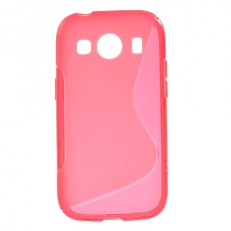 Galaxy ace 4 roosan punainen silikonisuojus.