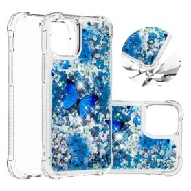 iPhone 12 mini glitter hile perhoset suojakuori