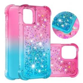 iPhone 12 mini liukuväri glitter hile suojakuori