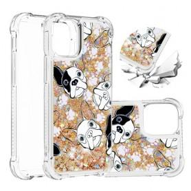 iPhone 12 mini glitter hile koirat suojakuori