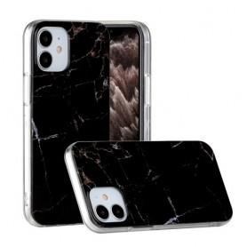 iPhone 12 mini musta marmori suojakuori