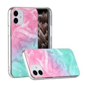 iPhone 12 mini värikäs tie-dye marmori suojakuori