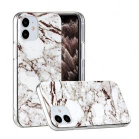 iPhone 12 mini valkoinen marmori suojakuori