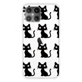 iPhone 12 mini läpinäkyvä kissat suojakuori