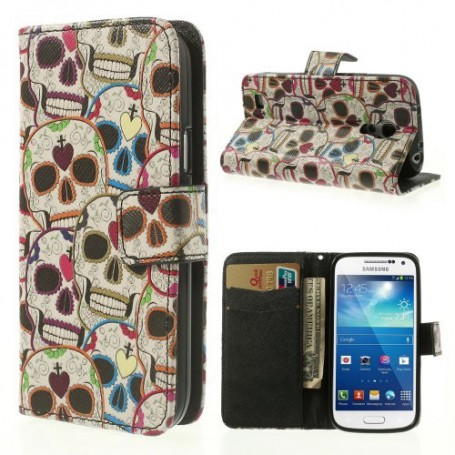 Galaxy S4 Mini pääkallot puhelinlompakko