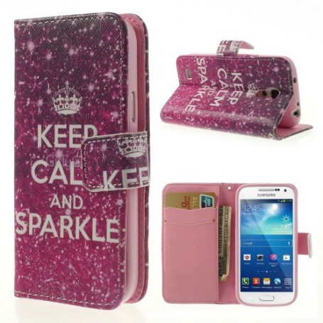 Galaxy S4 Mini keep calm puhelinlompakko