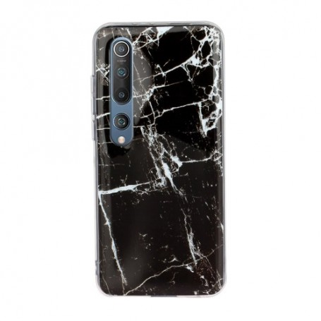 Xiaomi Mi 10 / Mi 10 Pro musta marmori suojakuori