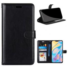 iPhone 12 / 12 Pro musta puhelinlompakko