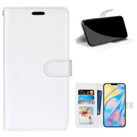 iPhone 12 / 12 Pro valkoinen puhelinlompakko