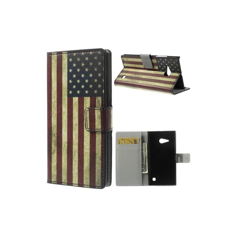 Lumia 735 Yhdysvaltojen lippu puhelinlompakko