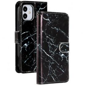iPhone 12 / 12 pro musta marmori suojakotelo