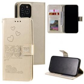 iPhone 12 / 12 pro kullanvärinen pöllöpariskunta suojakotelo