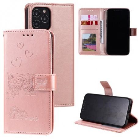 iPhone 12 / 12 pro ruusukulta pöllöpariskunta suojakotelo