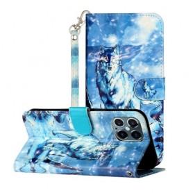 iPhone 12 / 12 pro sininen susi suojakotelo