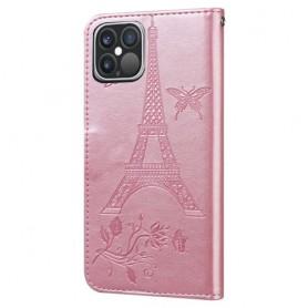 iPhone 12 / 12 pro ruusukulta Eiffel-torni suojakotelo