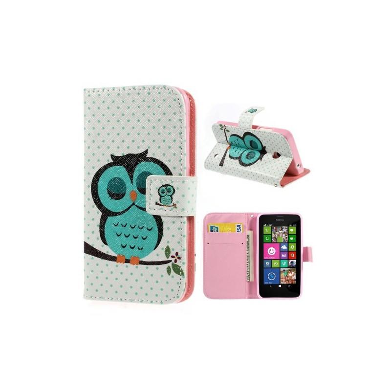 Lumia 630 vihreä pöllö lompakkokotelo