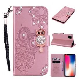 iPhone 12 / 12 pro ruusukulta pöllö suojakotelo